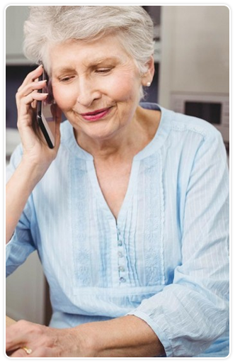 Mature woman talking on the phone
